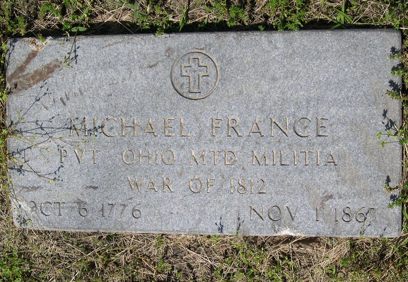 MICHAEL FRANCE  MILITARY TOMBSTONE
