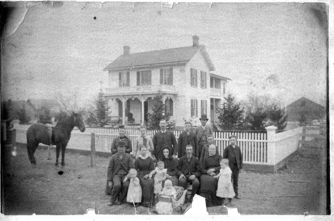 William and Martha Chenoweth home, Hickory Grove area, Farmers Twp. Fulton Cty, IL