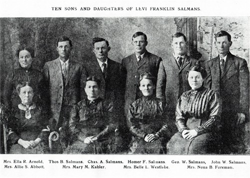 Levi Franklin Salmans family