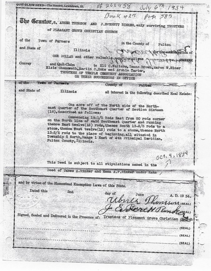 Quit Claim Deed July 6 1934